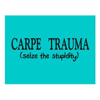 Carpe Trauma  (Seize The Stupidity) Postcard
