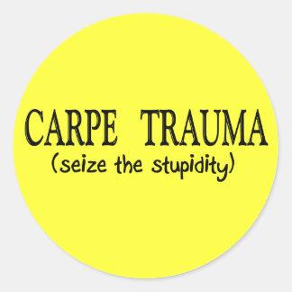 Carpe Trauma  (Seize The Stupidity) Sticker