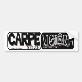 CARPE VICTORIA - SEIZE THE VICTORY - CROSS COUNTRY BUMPER STICKER