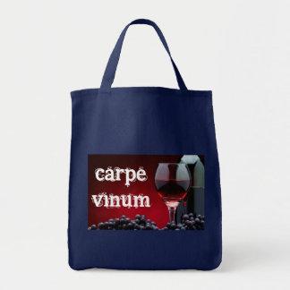 Carpe Vinum Grocery Tote Bag