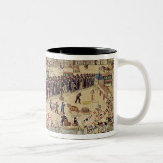 Carpenter Apprentices at the end of their Tour Two-Tone Coffee Mug