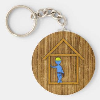 Carpenter Basic Round Button Keychain