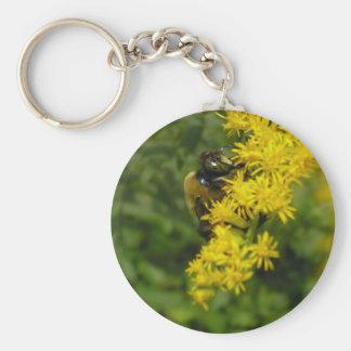 Carpenter Bee Basic Round Button Keychain