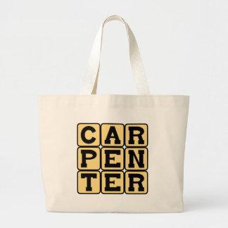 Carpenter Building Career Tote Bags