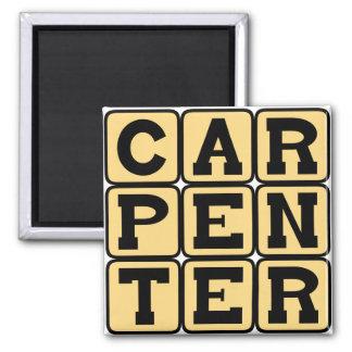 Carpenter Building Career Magnets
