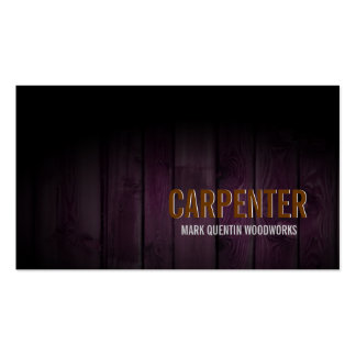 Carpenter Business Card Dark Wood
