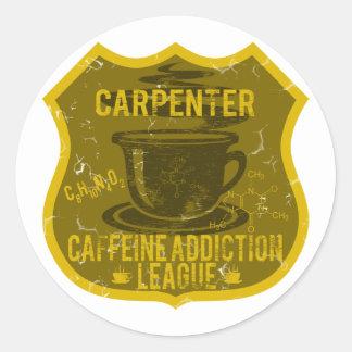 Carpenter Caffeine Addiction League Classic Round Sticker
