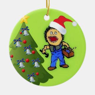 Carpenter Christmas Ceramic Ornament
