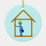 Carpenter Christmas Tree Ornament