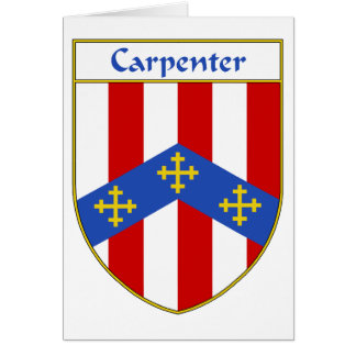 Carpenter Coat of Arms/Family Crest Card