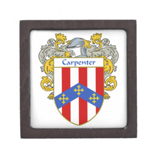Carpenter Coat of Arms/Family Crest Gift Box