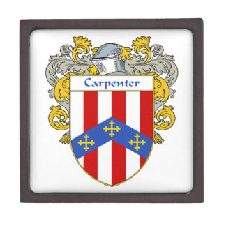 Carpenter Coat of Arms/Family Crest Jewelry Box