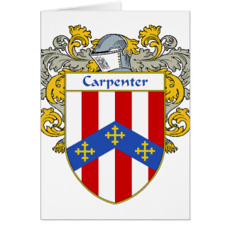 Carpenter Coat of Arms/Family Crest (Mantled) Card