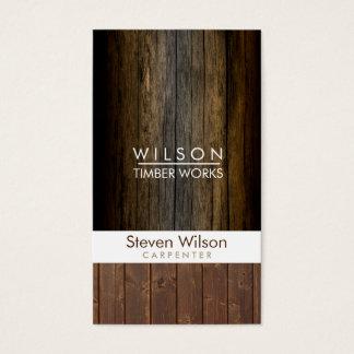 Carpenter Construction Woodwork Wood Builder Business Card