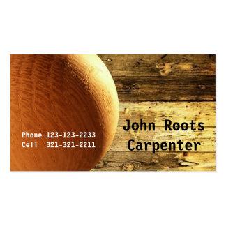 Carpenter Constructor Wood Ball Business Card