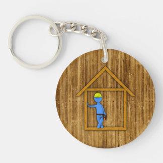 Carpenter Double-Sided Round Acrylic Keychain