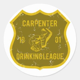 Carpenter Drinking League Classic Round Sticker
