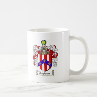 CARPENTER FAMILY CREST -  CARPENTER COAT OF ARMS COFFEE MUG