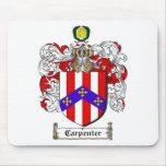 CARPENTER FAMILY CREST -  CARPENTER COAT OF ARMS MOUSE PAD