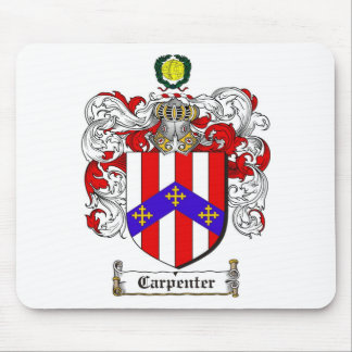 CARPENTER FAMILY CREST -  CARPENTER COAT OF ARMS MOUSE PAD