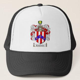 CARPENTER FAMILY CREST -  CARPENTER COAT OF ARMS TRUCKER HAT