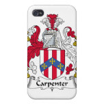 Carpenter Family Crest Covers For iPhone 4