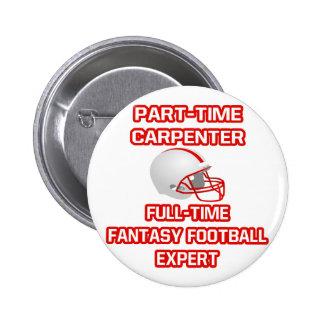 Carpenter .. Fantasy Football Expert 2 Inch Round Button