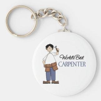 Carpenter Gift Basic Round Button Keychain