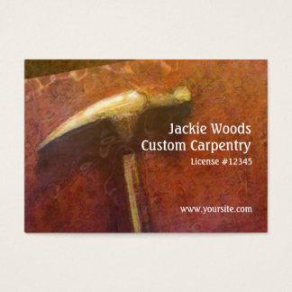 Carpenter Golden Hammer Business Card
