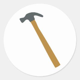 carpenter hammer classic round sticker