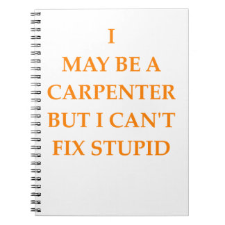 carpenter notebook