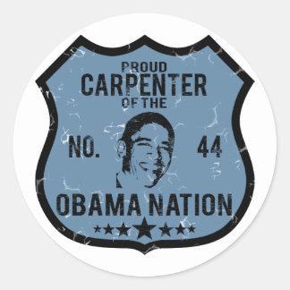 Carpenter Obama Nation Classic Round Sticker