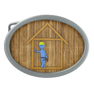 Carpenter Oval Belt Buckle