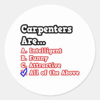 Carpenter Quiz...Joke Round Sticker