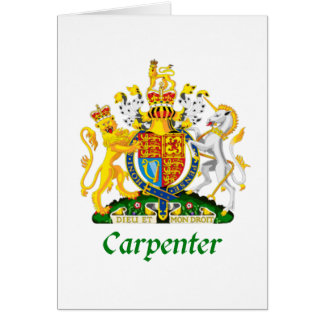 Carpenter Shield of Great Britain Card