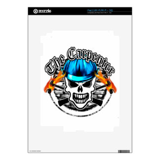 Carpenter Skull and Blue Hard Hat Decals For The iPad 2