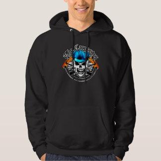 Carpenter Skull and Blue Hard Hat Hoodie