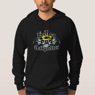 Carpenter Skull and Hammers: Killer Carpenter Hooded Sweatshirt