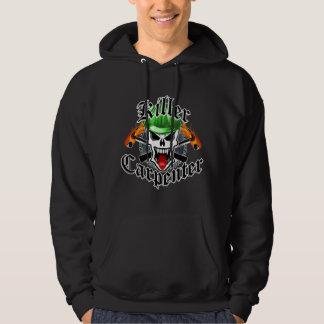 Carpenter Skull and Hard Hat: Killer Carpenter Hoodie