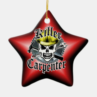 Carpenter Skull: Killer Carpenter Ceramic Ornament