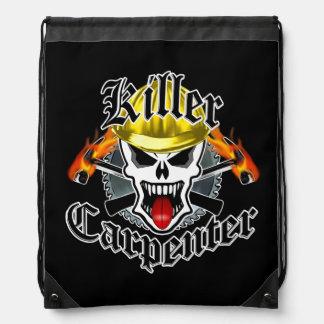 Carpenter Skull: Killer Carpenter Drawstring Backpack
