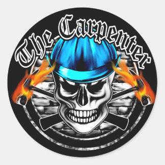 Carpenter Skull Classic Round Sticker
