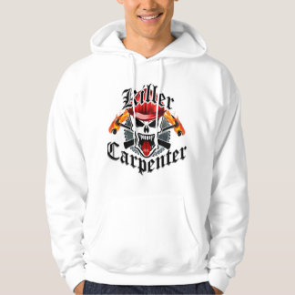 Carpenter Skull With Red Hard Hat Hoodie