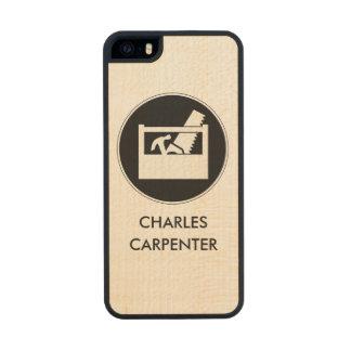 Carpenter Theme Monogram Wood iPhone SE/5/5s Case