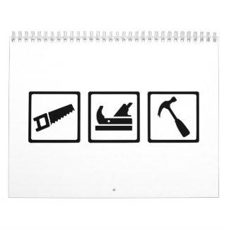 Carpenter tools wall calendar