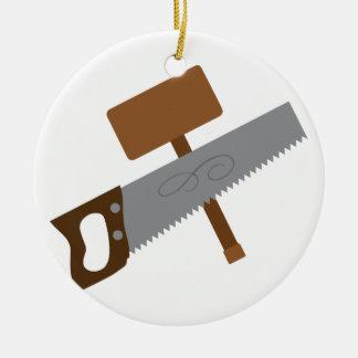 Carpenter Tools Ceramic Ornament