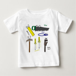 Carpenter Tools Whimsical Cartoon Art Baby T-Shirt