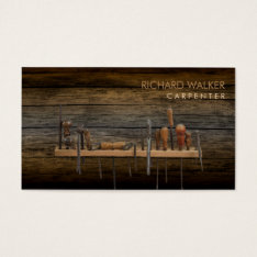 Carpenter Tools Woodworking Professional Wood Business Card at Zazzle