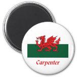 Carpenter Welsh Flag Magnets