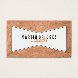 Carpenter Wood Butterfly Joint Business Cards